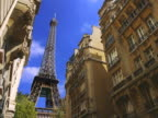 France, Paris, Eiffel Street, Eiffel Tower, low angle view