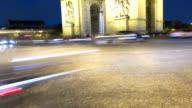 France Paris Europe Arc de Triomphe Avenue Champs Elyses night TL