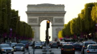 France Paris Europe Arc de Triomphe Avenue Champs Elyses TL