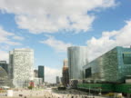 France, Paris, pedestrian traffic moving through La Defense