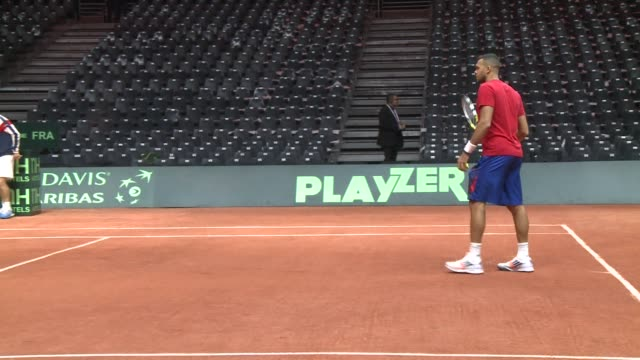 France prepares to face Switzerland in the Davis Cup final a day after Roger Federer suffered his worst ever defeat in the tournament but the score...