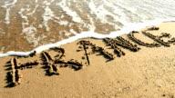 France written in sand