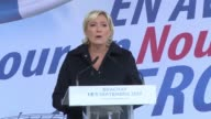 France's far right leader Marine Le Pen whose National Front party emerged weakened and divided from this year's elections announces plans to...
