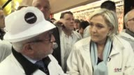 France's farright candidate Marine Le Pen visits Rungis wholesale market as she pushes ahead with France's presidential race