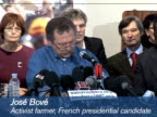 France's iconic activist farmer Jos� Bov� has thrown his hat into the ring for April's presidential election as a candidate for the anticapitalist...