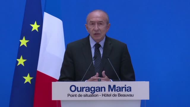 France's interior minister urges people in Guadeloupe to remain in their homes after one person was confirmed dead from Hurricane Maria