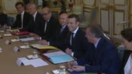 France's newlyelected Emmanuel Macron presided over his first ministers' council on Thursday with a new cabinet of 22 people mixing Socialist...