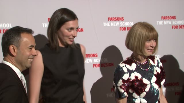 Francisco Costa Kathryn Neale Shaffer and Anna Wintour at the 2009 Parsons Fashion Benefit Honoring Calvin Klein at New York NY