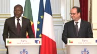 Francois Hollande met with Benins new president Patrice Talon at the Elysee