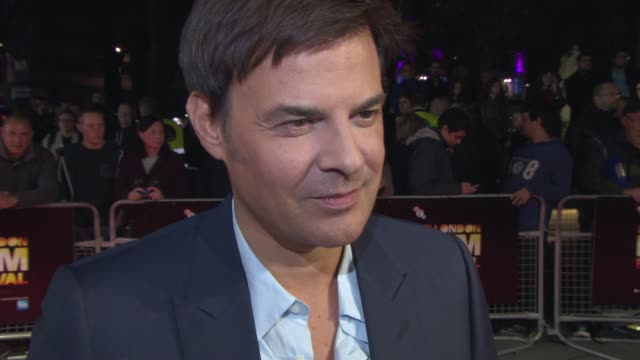 INTERVIEW Francois Ozon on Romain Duris the film subject on Anais Demoustier on being in London at 'New Girlfriend' Red Carpet at Odeon West End on...