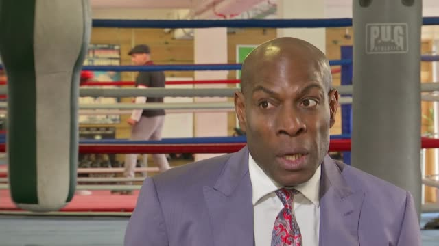 Frank Bruno interview about depression and treatment ENGLAND London INT Frank Bruno interview SOT Bruno chatting to reporter Frank Bruno interview...