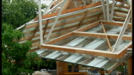 Frank Gehry special installation at Serpentine Gallery ENGLAND London EXT **music overlaid over following shots** General views Frank Gehry designed...
