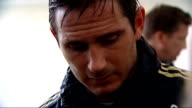 Frank Lampard interview ahead of Europa League final ENGLAND Surrey Cobham Frank Lampard leaving pitch after training session / Frank Lampard...