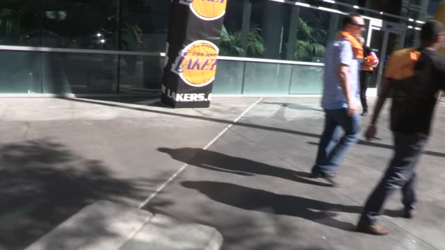 Frank Robinson departing the Lakers Game at Staples Center on March 09 2014 in Los Angeles California