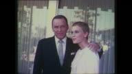 Frank Sinatra Mia Farrow outside Wedding