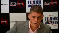 Frank Warren James DeGale Billy Joe Saunders and Frankie Gavin press conference and interviews Thanks Warren and his supporters Thanks Warren and is...