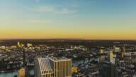 T/L Frankfurt am Main - Main Tower - city scape - sunset