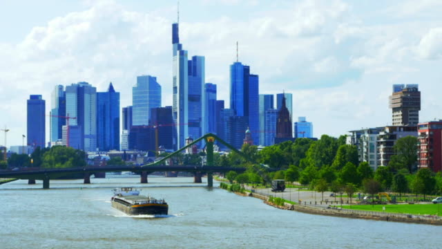 Frankfurt am Main Skyline Cinemagraph