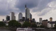 Frankfurt am Main - Skyline - Timelapse at Eiserner Steg
