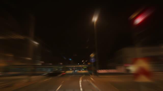 Frankfurt City Night Drive Time Lapse