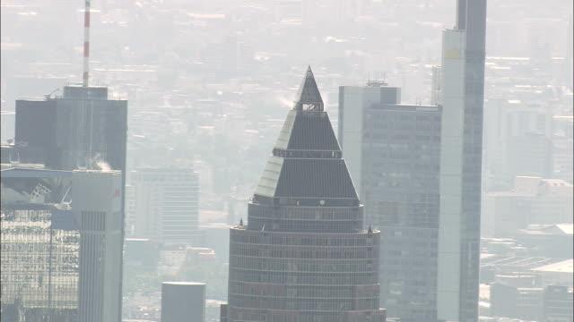 Frankfurt Financial District  - Aerial View - Hesse,  helicopter filming,  aerial video,  cineflex,  establishing shot,  Germany