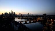 Frankfurt Germany Skyline Dusk HD