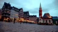 Frankfurt old town at dusk