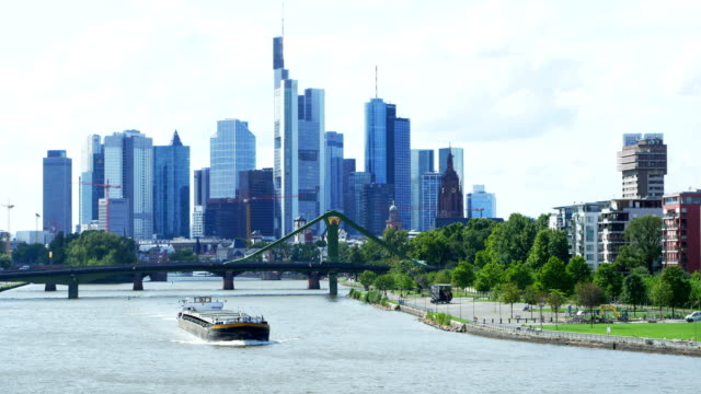 Frankfurt Skyline And Main River (4K/UHD to HD)