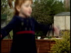 Freed British hostage talks of ordeal ITN Northamptonshire Children of freed hostage Gary Teeley bouncing on trampoline on garden as exwife Sharon...
