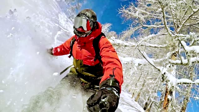 TW Freestyle snowboarder in the wilderness