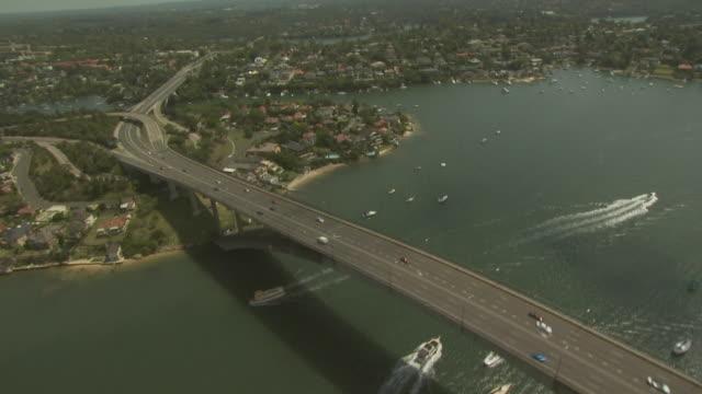 Freeway and bridge from the air; Australia