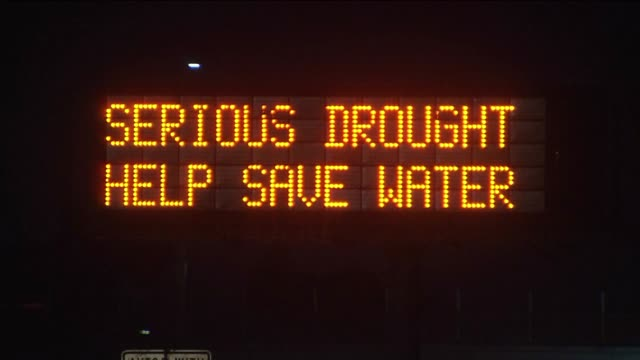Freeway Sign Warns of California Drought