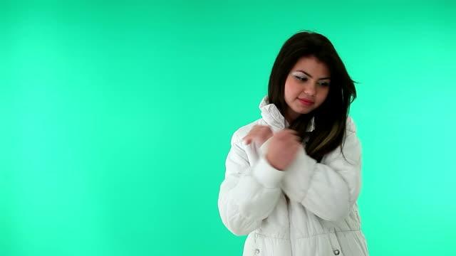 Freezing girl