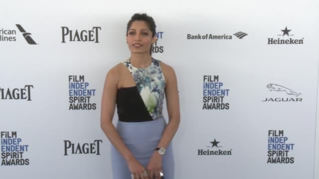 Freida Pinto at the 2016 Film Independent Spirit Awards Arrivals on February 27 2016 in Santa Monica California