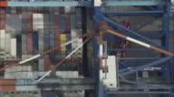 HA MS Freight train at dock, Bremerhaven, Bremen, Germany