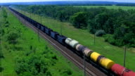 Freight train in the country side