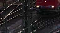 MS Freight train on railway track / Maschen, Niedersachsen, Germany