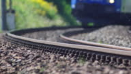 Freight Train Passing By Close-up