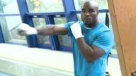 French boxer JeanMarc Mormeck prepares for his heavyweight bout on December 10 against current WBA IBF WBO title holder Wladimir Klitschko Thiais...