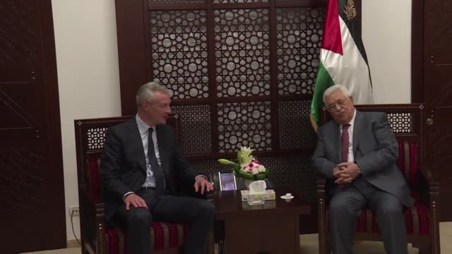 French Economy Minister Bruno Le Maire met on Monday with Palestinian leader Mahmud Abbas at the Muqata the presidential palace in the West Bank city...