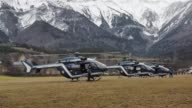 French emergency services members carry out search and rescue operations near the site where a Germanwings flight crashed on the French Alps in La...