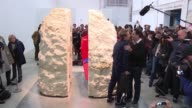 French extreme performance artist Abraham Poincheval entombed himself inside a 12tonne rock on Wednesday at 220pm in the basement of Paris' Palais de...