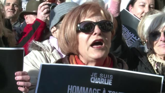 French farright National Front leader Marine Le Pen joins a rally against Islamist extremism in a small town in southern France after complaining...
