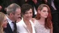 French filmmaker Olivier Assayas presents 'Sils Maria' at the Cannes Film Festival and walks the carpet with hist cast including Oscar winning French...