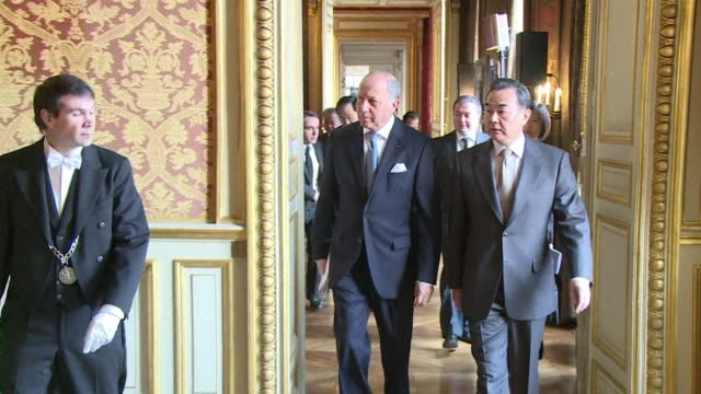 French Foreign Minister Laurent Fabius tells his Chinese counterpart that a new era of cooperation has come but that his government does not intend...