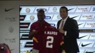 French international defender Mapou Yanga Mbiwa on loan from Newcastle to AS Roma vowed to give his best to the team Thursday as he was presented to...
