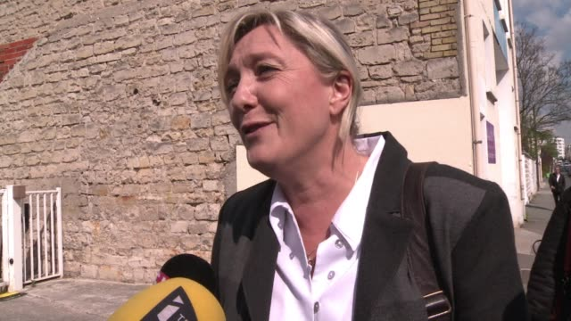 French National Front leader Marine Le Pen says her partys priorities are tax cuts and improved safety in cities a day after her partys vote soared...