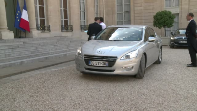 French officials including President Hollande and Foreign Minister Laurent Fabius hold a crisis meeting at the Elysee Palace after 51 French...
