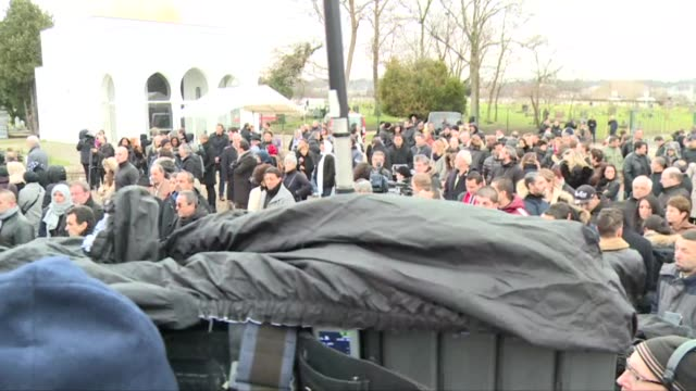 French policeman Ahmed Merabet a 40 year old Muslim has been buried in a Muslim cemetary outside Paris