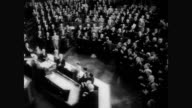 / French president Charles De Gaulle receives standing ovation from Congress during joint session French President Charles De Gaulle Addresses...